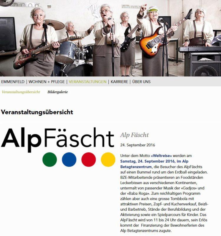 Alpfest mit Baba Roga 24.09.16